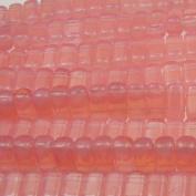 Czechmate 2mm X 6mm Brick Glass Czech Two Hole Bead - Milky Pink