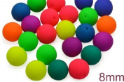 32 pcs Czech Glass Round Pressed Beads ESTRELA NEON (UV Active) MIX 8 mm