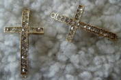 Clear Rhinestone Sideways Cross Connector