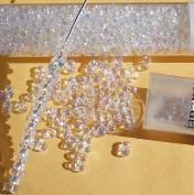 Clear Rainbow 2x4mm 6/0 Peanut Farfalle Butterfly Seed Beads 23 Gramme Tube