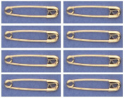 SAFETY PINS Size 0 (2.2cm ) GOLD TONE BULK PK/100 Made in USA