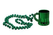 Irish 110cm Green Beads w/ Beer Mug