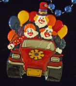 Clown Car Party Balloons Mardi Gras Necklace New Orleans Beads