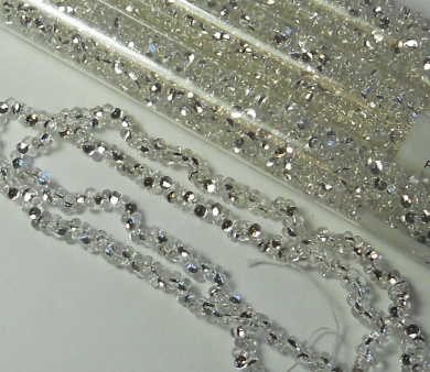 Clear Silver Lined 2x4mm 6/0 Peanut Farfalle Butterfly Seed Beads 23 Gramme Tube