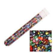 Czech Glass Seed Bead ~ Size 11/0 2 cut tube bead ~ Vial Tube Multi Mix Colours & Finishes