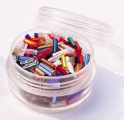 """Czech Glass Bugle Beads ~ Size #3 (1/4"""" 6mm) ~ Multi Mix Tub"""