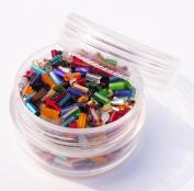 """Czech Glass Bugle Beads ~ Size #2 (3/16"""" 4.5mm) ~ Multi Mix Tub"""