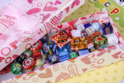 eCrafty EC-3957 Millefiori Beads Rainbow Mosaic Glass Beads Mix, 1/4-Pound