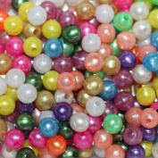 PEARL 6mm BEAD MIX ~ Pearly Spring ~ (Green Blue Yellow Pink Orange White) Pk/100