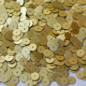 8mm Flat Round SEQUIN PAILLETTES ~ Matte Gold~ Loose sequins for embroidery, bridal, applique, arts, crafts, and embellishment. Made in USA.