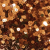 3mm Flat Round SEQUIN PAILLETTES ~ COPPER Metallic ~ Loose sequins for embroidery, bridal, applique, arts, crafts, and embellishment. Made in USA.