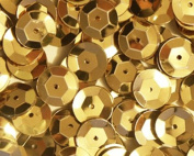 4mm CUP SEQUINS ~ GOLD ~ Loose sequins for embroidery, applique, arts, crafts, and embellishment. Made in USA