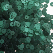 6mm FLAT SEQUINS PAILLETTES ~ DEEP DARK FOREST GREEN SILK FROST MATTE ~ Loose paillette sequins for embroidery, applique, arts, crafts, bridal wear and embellishment. Made in USA
