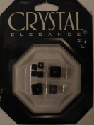 8 pc - Crystal 18 Facet Cube Mix - Black AB - Crystal Elegance - 32836-23