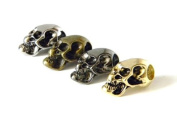4 Metal Skull Beads (Chrome/Gold/Bronze/Black) For 550 Paracord Bracelets, Lanyards, & Other Projects