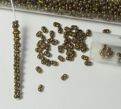 Putty Lustre 2x4mm 6/0 Peanut Farfalle Butterfly Seed Beads 23 Gramme Tube