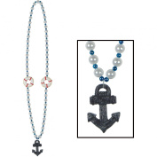 Cruise Ship Beads w/Anchor Medallion (internet friendly) Party Accessory
