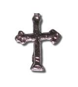 Small Lead Cross Charm