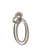Charm Gallery 77170 Silver Plated Number 0 Charm