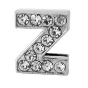 """12x Alphabet Slide Charm, Letter """"Z"""", 8mm"""