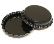 50 Black ON BOTH SIDES Bottle Caps New Unused Bottlecaps Coloured 2 sided