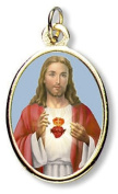 His Divine Love for Humanity Sacred Heart of Jesus Christ 2.5cm Devotional Medal