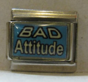 9mm Italian Charm... With Message... Bad Attitude
