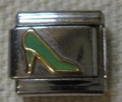 9mm Italian Charm... Green High Heeled Shoes