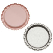 New Light Pink Flat Crown Bottle Caps Craft Scrapbook Jewellery No Liners