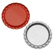 New Red Flat Crown Bottle Caps Craft Scrapbook Jewellery No Liners