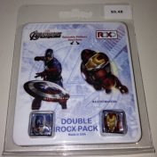 Roxo Double Rocx Pack Marvel Avengers Captain America & Ironman Iron Man