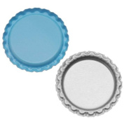 New Light Blue Flat Crown Bottle Caps Craft Scrapbook Jewellery No Liners