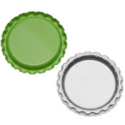 New Green Apple Flat Crown Bottle Caps Craft Scrapbook Jewellery No Liners