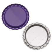 New Purple Flat Crown Bottle Caps Craft Scrapbook Jewellery No Liners