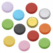 50 Mixed Colour Bottle Caps Craft Scrapbook Jewellery