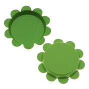 New Green Apple Flower Bottle Caps Craft Scrapbook Jewellery No Liners 25mm
