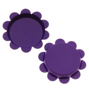 New Purple Flower Bottle Caps Craft Scrapbook Jewellery No Liners 25mm