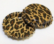 50 Cheetah Print ON BOTH SIDES Bottle Caps New Unused Bottlecaps Cap Animal two