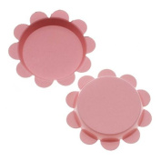 New Light Pink Flower Bottle Caps Craft Scrapbook Jewellery No Liners 25mm