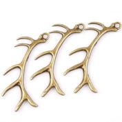 Antique Bronze Elk Antlers Alloy Charms Fit DIY 7pcs 145994
