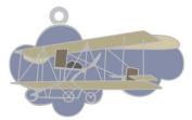 Longren Biplane Charm