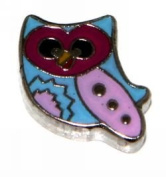 Colourful Owl Floating Charm for Heart Lockets