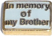 In Memory Of My Brother Floating Locket Charm