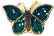 Green Butterfly Floating Locket Charm