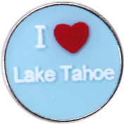 I Love Lake Tahoe Floating Locket Charm