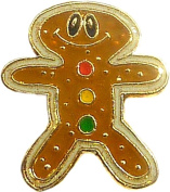 Gingerbread Man Floating Locket Charm