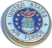 United States Air Force Floating Locket Charm