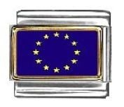European Union Photo Flag Italian Charm Bracelet Jewellery Link