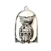 Owl Cage Jewellery Charm Pendant, Scarf Accessories, Jewerly Scarf Pendant, PT-409