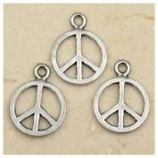 30pcs Tibetan Silver Peace Logo Charms 10mm ~Jewellery Making~